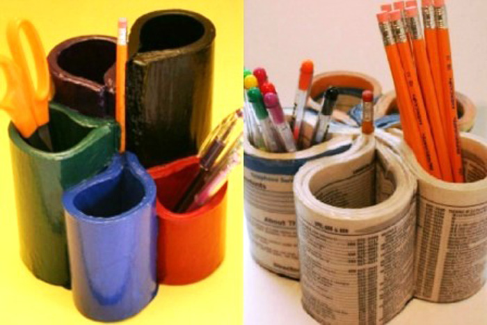 Підставки для олівців своїми руками з пляшки. Саморобні підставки для ручок своїми руками