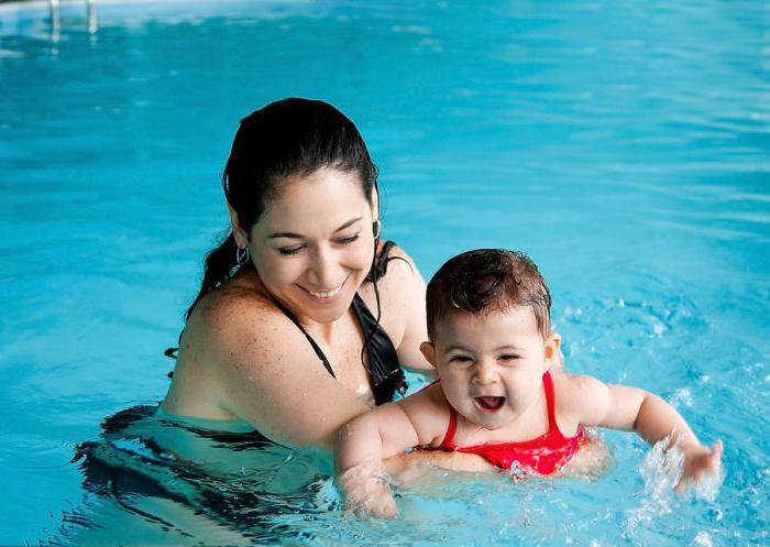 Дитячі басейни. Плавання з немовлям у ванні і басейні: корисні вправи