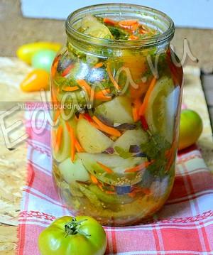 Салат із зелених помідорів-кращі рецепти закуски на кожен день і на зиму. Салат із зелених помідорів на зиму-рецепти з фото пальчики оближеш