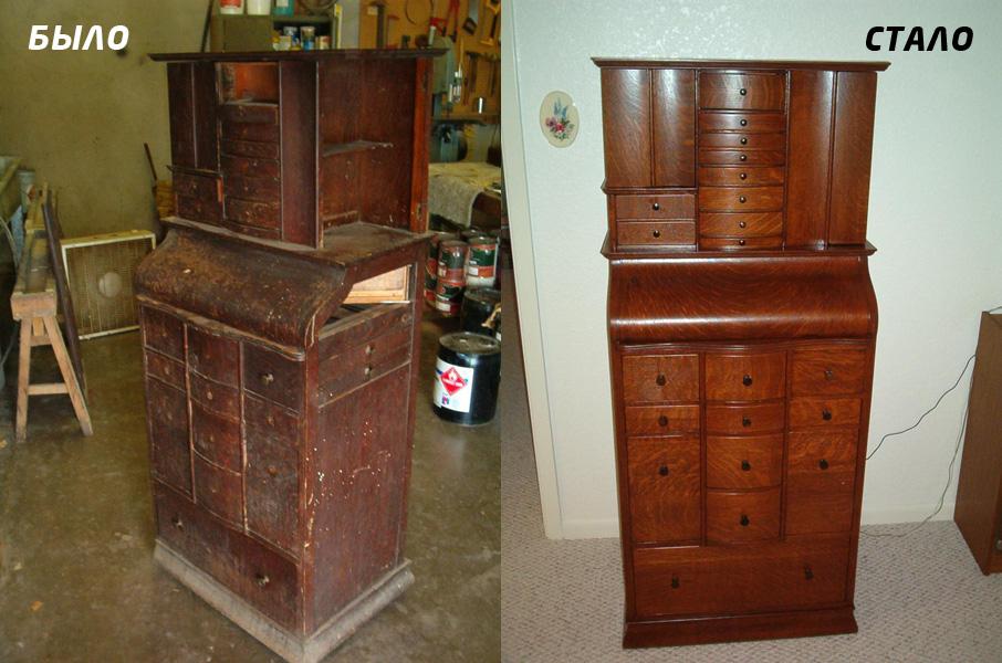 Реставрація полірованих меблів. Реставрація лакованих меблів