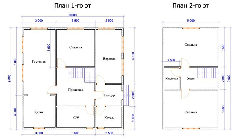 Двоповерховий будинок з мансардою і терасою. Інші варіанти будинку з мансардою: фото проекти