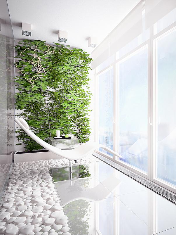 Інтерєр в стилі еко мінімалізм. Бетон, дерево і камінь: інтерєр в стилі еко-мінімалізм для молодого чоловіка