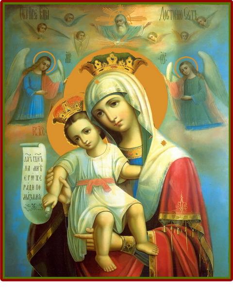 Назви ікон божої матері. Значення ікон