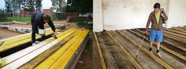 Чорнову підлогу з чого роблять. Чорнова підлога по деревяних балках: призначення і особливості конструкції