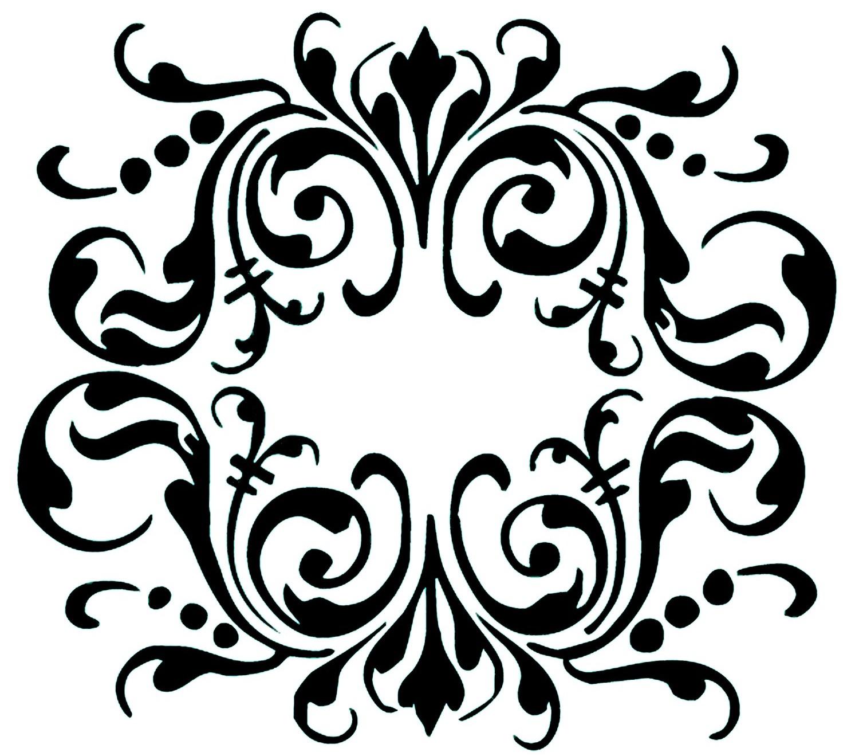 Трафарети для декору стразами шаблони. Трафарети для декору своїми руками: шаблони і техніка їх виготовлення