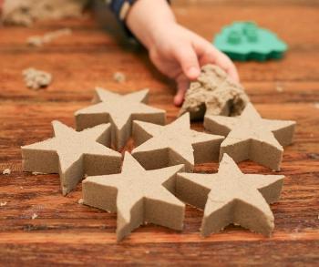 Рецепт генетичного піску в домашніх умовах. Кінетичний пісок і пісочниця для дітей-фото і ціни