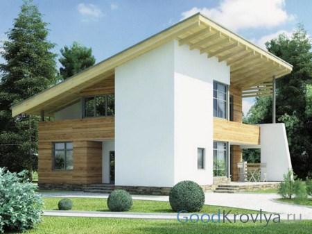Які бувають види і форми дахів будинків – від простого до складного. Дах односхилий своїми руками