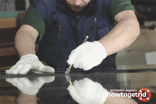 Як розрізати товсте скло склорізом. Розрізаємо скло в домашніх умовах: як правильно різати? огляд