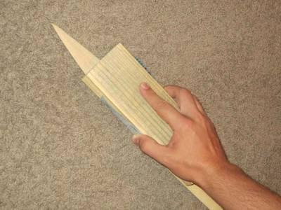 Як можна зробити з дерево ніж. Як зробити деревяний ніж своїми руками? що робити далі