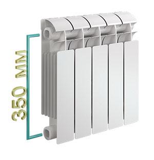 Біметалічні радіатори опалення розміри технічні характеристики. Радіатори опалення: стандартні і нестандартні розміри
